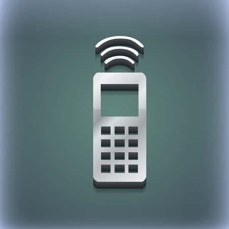 remote control: the remote control icon symbol. 3D style. Trendy, modern design with space for your text illustration. Raster version Stock Photo