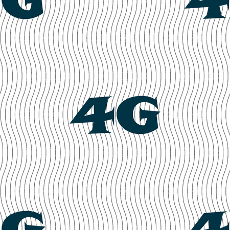 4g: 4G sign icon. Mobile telecommunications technology symbol. Seamless pattern with geometric texture. illustration