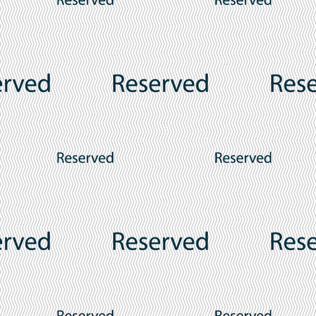 reserved sign: Reserved sign icon. Seamless pattern with geometric texture. illustration Stock Photo