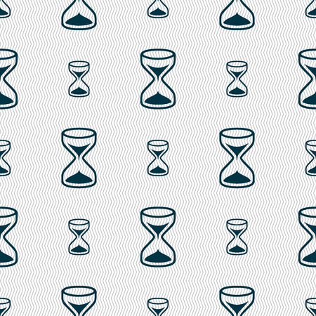 sand timer: Hourglass sign icon. Sand timer symbol. Seamless abstract background with geometric shapes. illustration Stock Photo