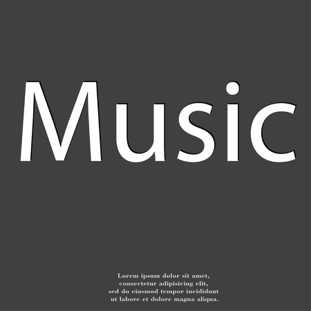 voices: music icon symbol Flat modern web design with long shadow and space for your text. illustration