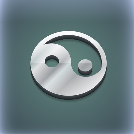 yinyang: Ying yang icon symbol. 3D style. Trendy, modern design with space for your text illustration. Raster version