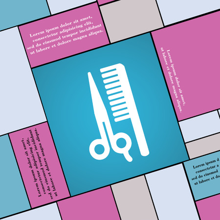 coiffeur: hair icon sign. Modern flat style for your design. illustration