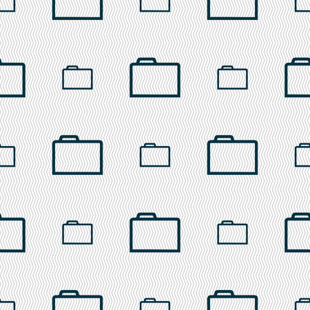 map case: Folder icon sign. Seamless pattern with geometric texture. illustration