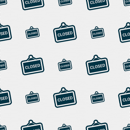 close icon sign. Seamless pattern with geometric texture. illustration