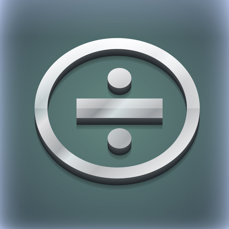 dividing: dividing icon symbol. 3D style. Trendy, modern design with space for your text illustration. Raster version