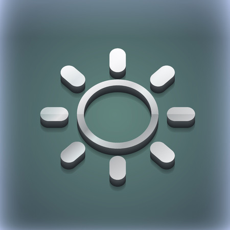 brightness: Brightness icon symbol. 3D style. Trendy, modern design with space for your text illustration. Raster version Stock Photo