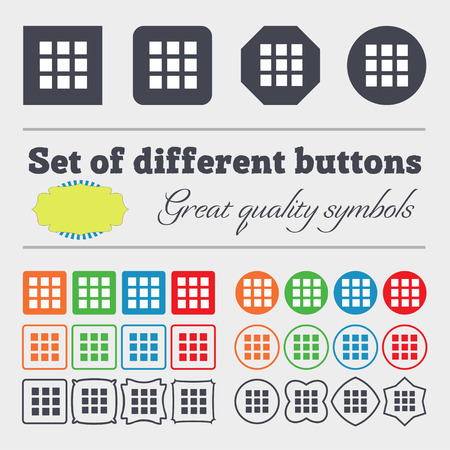 the view option: List sign icon. Content view option symbol. Big set of colorful, diverse, high-quality buttons. illustration Stock Photo