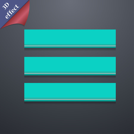 medium group of object: Align text to the width icon symbol. 3D style. Trendy, modern design with space for your text illustration. Rastrized copy