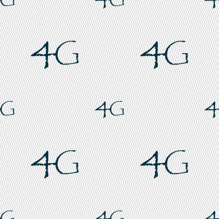 4g: 4G sign icon. Mobile telecommunications technology symbol. Seamless abstract background with geometric shapes. illustration