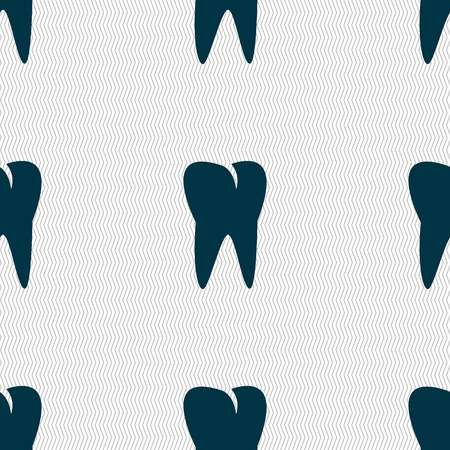 cavity braces: tooth icon. Seamless abstract background with geometric shapes. illustration