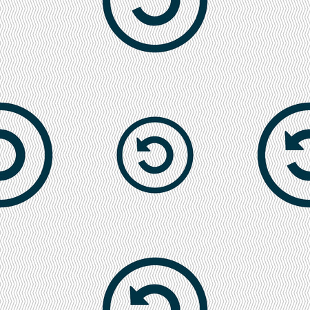 groupware: Upgrade, arrow, update icon sign. Seamless abstract background with geometric shapes. illustration