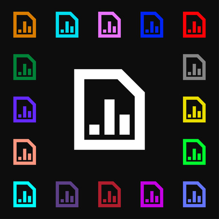 upturn: Growth and development concept. graph of Rate icon sign. Lots of colorful symbols for your design. illustration Stock Photo