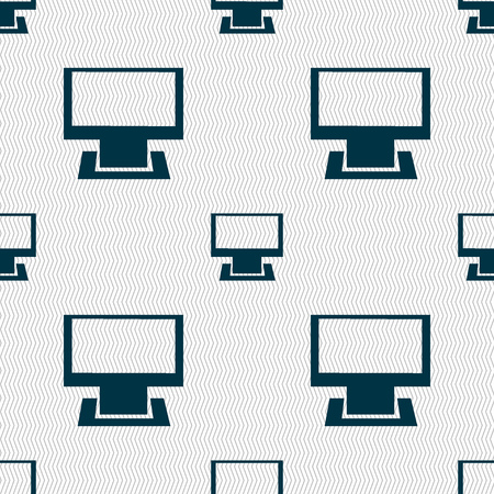 widescreen: Computer widescreen monitor sign icon. Seamless abstract background with geometric shapes. illustration Stock Photo