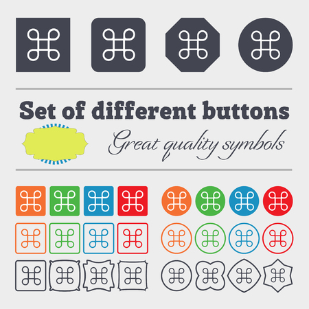 maestro: Keyboard Maestro icon. Big set of colorful, diverse, high-quality buttons. illustration Stock Photo