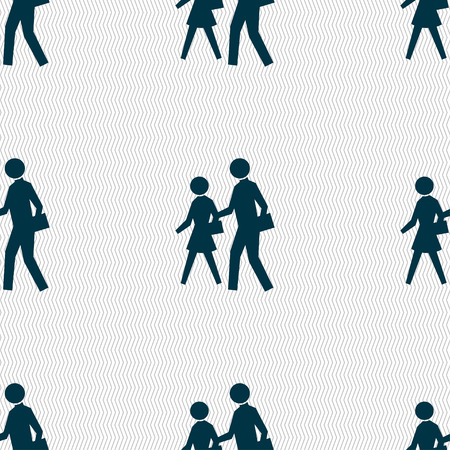 paso de cebra: crosswalk icon sign. Seamless pattern with geometric texture. illustration