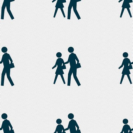 paso peatonal: icono de la muestra del paso de peatones. Patr�n sin fisuras con textura geom�trica. ilustraci�n