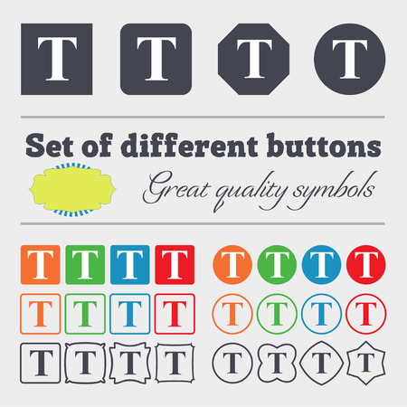 edit icon: Text edit icon sign. Big set of colorful, diverse, high-quality buttons. illustration