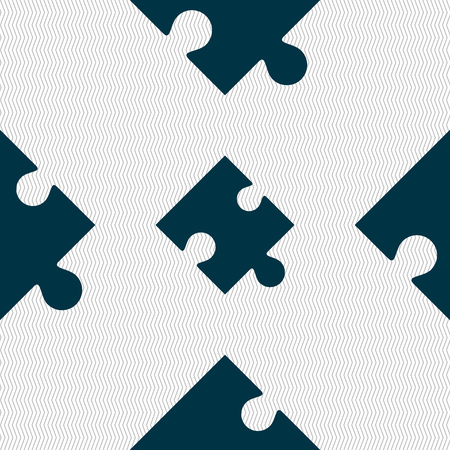 puzzle corners: Puzzle piece icon sign. Seamless abstract background with geometric shapes. illustration