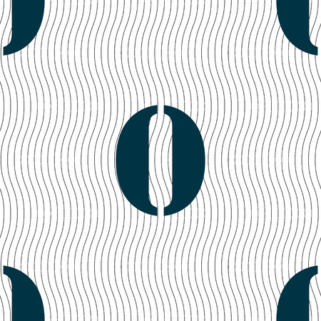 number zero: number zero icon sign. Seamless pattern with geometric texture. illustration