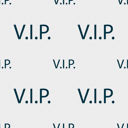 very important person sign: Vip sign icon. Membership symbol. Very important person. Seamless abstract background with geometric shapes. illustration Stock Photo