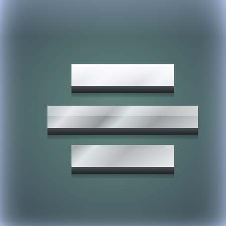 alignment: Center alignment icon symbol. 3D style. Trendy, modern design with space for your text illustration. Raster version