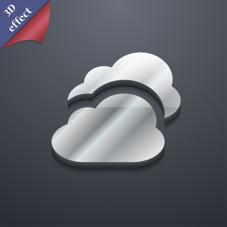 Cloud icon symbol. 3D style. Trendy, modern design with space for your text illustration. Rastrized copy
