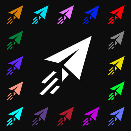 paper airplane: Paper airplane icon sign. Lots of colorful symbols for your design. illustration