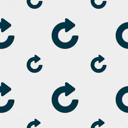 groupware: Upgrade, arrow icon sign. Seamless pattern with geometric texture. illustration Stock Photo