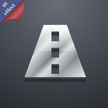 bitumen: Road icon symbol. 3D style. Trendy, modern design with space for your text illustration. Rastrized copy