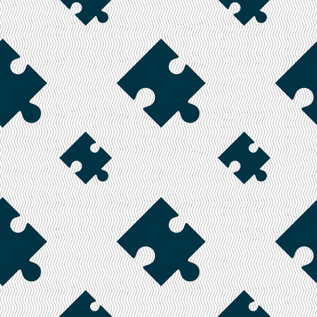puzzle corners: Puzzle piece icon sign. Seamless pattern with geometric texture. illustration