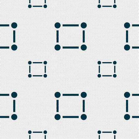 registration: Crops and Registration Marks icon sign. Seamless pattern with geometric texture. illustration