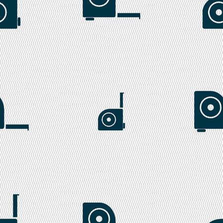 cintas metricas: la construcci�n de la ruleta icono de la muestra. Seamless abstracto con formas geom�tricas. ilustraci�n