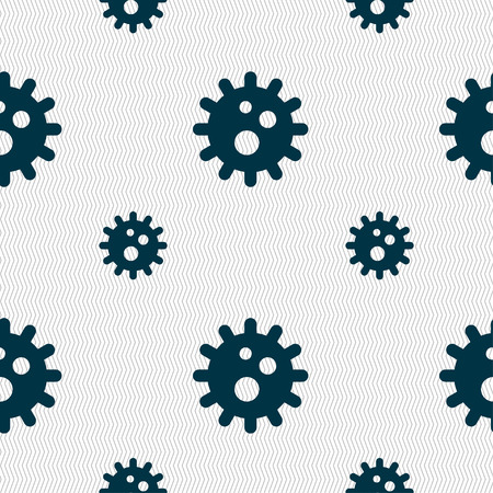 naval: naval mine icon sign. Seamless pattern with geometric texture. illustration Stock Photo