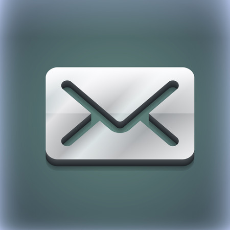avia: Mail, envelope, letter icon symbol. 3D style. Trendy, modern design with space for your text illustration. Raster version