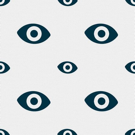 the sixth sense: sixth sense, the eye icon sign. Seamless pattern with geometric texture. illustration