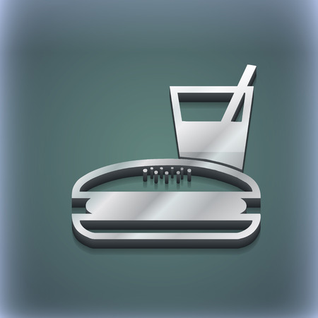 lunch box: lunch box icon symbol. 3D style. Trendy, modern design with space for your text illustration. Raster version