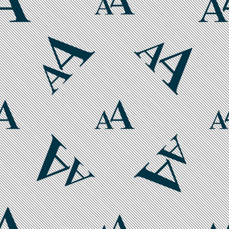 aa: Enlarge font, AA icon sign. Seamless pattern with geometric texture. illustration Stock Photo