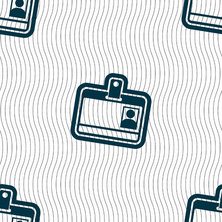 recognizing: Id card icon sign. Seamless pattern with geometric texture. illustration