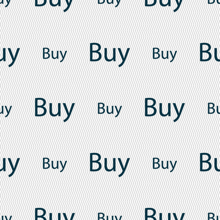 usd: Buy sign icon. Online buying dollar usd button. Seamless abstract background with geometric shapes. illustration Stock Photo