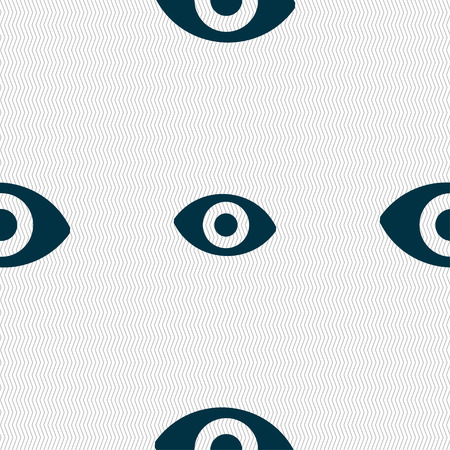 sense: sixth sense, the eye icon sign. Seamless pattern with geometric texture. illustration