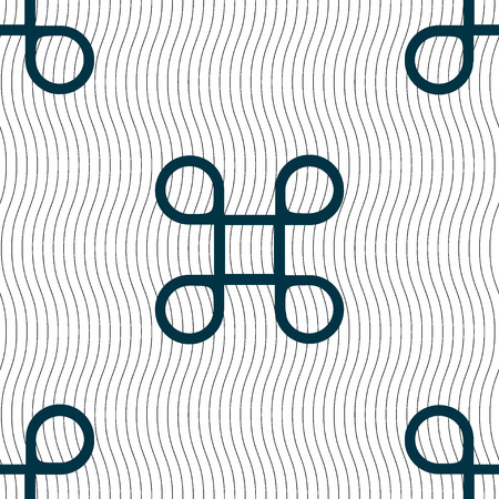 maestro: Keyboard Maestro icon. Seamless pattern with geometric texture. illustration
