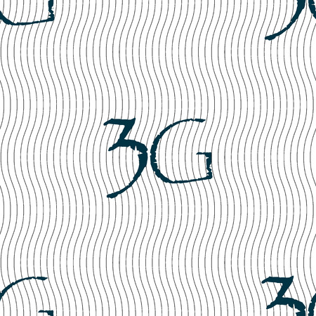 3g: 3G sign icon. Mobile telecommunications technology symbol. Seamless pattern with geometric texture. illustration