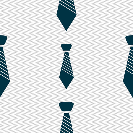 official wear: Tie sign icon. Business clothes symbol. Seamless abstract background with geometric shapes. illustration Stock Photo