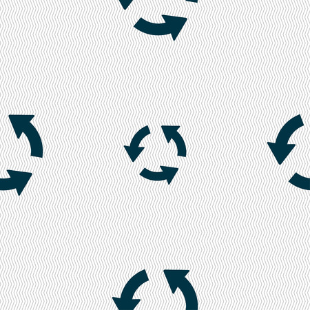 application recycle: Refresh icon sign. Seamless pattern with geometric texture. illustration