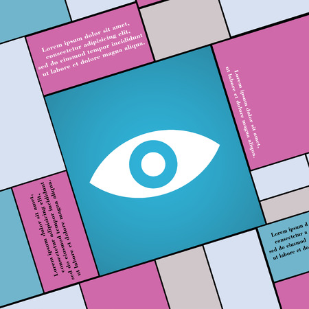 the sixth sense: Eye, Publish content, sixth sense, intuition icon sign. Modern flat style for your design. illustration