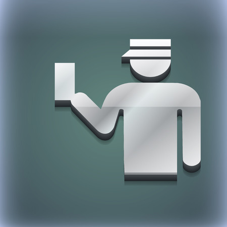 inspector: Inspector icon symbol. 3D style. Trendy, modern design with space for your text illustration. Raster version