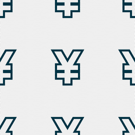 jpy: Yen JPY icon sign. Seamless pattern with geometric texture. illustration