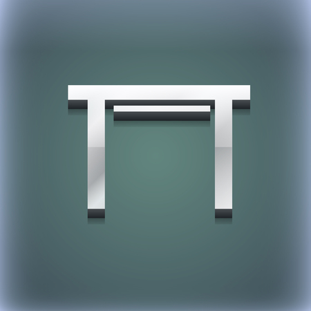 furnishing: stool seat icon symbol. 3D style. Trendy, modern design with space for your text illustration. Raster version