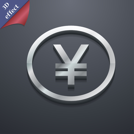 japanese yen: Japanese Yuan icon symbol. 3D style. Trendy, modern design with space for your text illustration. Rastrized copy Stock Photo